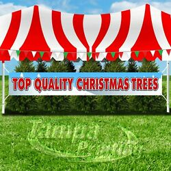 TOP QUALITY CHRISTMAS TREES Advertising Vinyl Banner Flag Sign LARGE HOLIDAYS