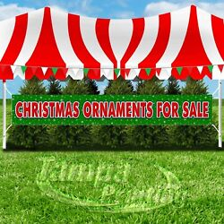 CHRISTMAS ORNAMENTS FOR SALE Advertising Vinyl Banner Flag Sign XXL HOLIDAYS