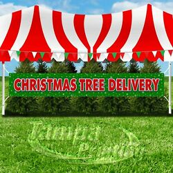 CHRISTMAS TREE DELIVERY Advertising Vinyl Banner Flag Sign XXL HOLIDAYS