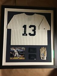 Alex Rodriguez Framed New York Yankees Autographed Jersey And Game Used Glove