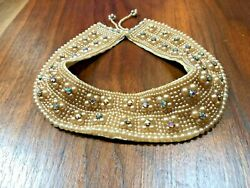 Vintage Antique Jeweled Collar Women's Pearl and Rhinestone Early 1900 circa