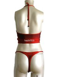 Tom Ford 1997 Bazaar Cover Ombrandeacute Swimsuit With Thong Bottom New