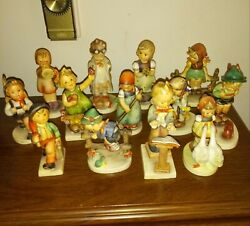 Vintage Lot Of 22 Hummel Porcelain Figurines.goebel W.germany