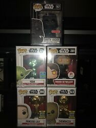 Star Wars Funko Pop Set Of 5 All Sealed In Pop Protectors Mint Condition