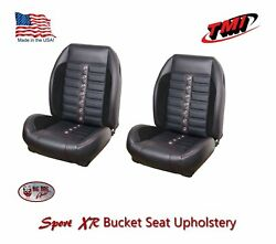 Sport Xr Front Bucket And Rear Bench Seat Upholstery 1968 - 69 Mustang Fastback