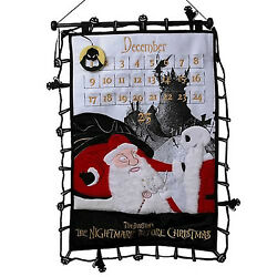 Nightmare Before Christmas Countdown Plush Scroll New Sealed