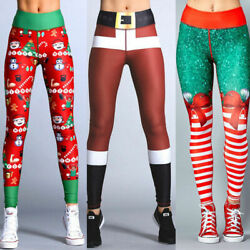 Fashion NEW Women's Christmas Print Leggings High Waist Hip Yoga Pants Gift