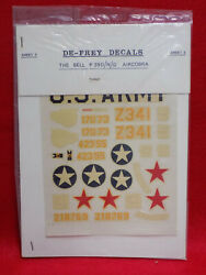 De-frey 1/72 Scale Decal Wwii Us Army Bell P-39d/n/q Airacobra