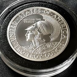 2018 Pan-pac Round Tribute 2 Oz 39mm 999 Fine Silver Spartain Owl