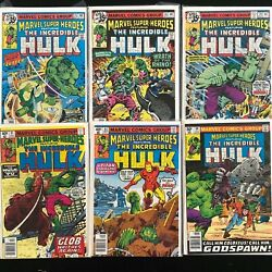 Marvel Super-heroes Featuring The Incredible Hulk 75,76,79,81,83,94 Bag Boarded