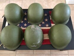 American Helmets And Vintage Flag Collectible Item Lot Of 6