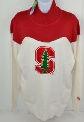 NCAA Stanford Cardinal Women's Chenille Letter Cheer Sweater Turtle Neck 2XL