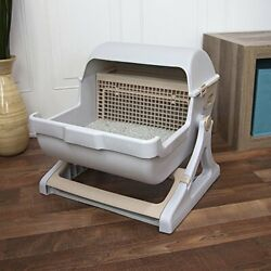 Luxury Semi Automatic Quick Cleaning Pet Litter Box Seamless Cat Toilet Drawer