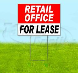 Retail Office For Lease 18x24 Yard Sign With Stake Corrugated Bandit Business
