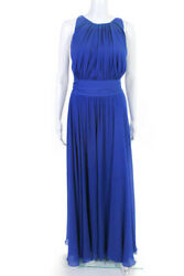Badgley Mischka Collection Womens Corundum Gown Sapphire Blue Size 14 10416462
