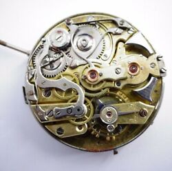 Rare 44mm Repeater Antique Pocket Watch Movement W/dial. Repeater Z293