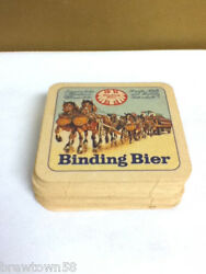 Binding Bier Beer Coaster Bar Coasters 19 Seit 1870 Horses Import Imported Ak9