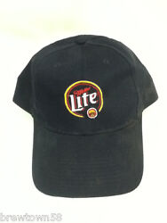 Miller Lite Beer Baseball Cap Hat One Size Fits All Blue Used P4 Milwaukee Wi