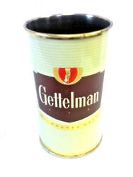 Gettelman Beer Can Glass Straw Holder Signs Brewery Vintage Rare Old Brewery Hm7
