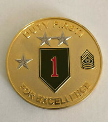 1st Infantry Division Commander's Coin Of Excellence R2