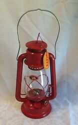 Vintage Dietz Junior Lantern No.20 Red With Clear Dietz Globe Hong Kong W/ Tags