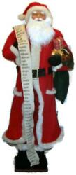 Vintage Life Size 5 Ft Traditional Santa Claus Figure W/ Good Boys And Girls List