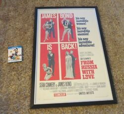 From Russia With Love Original 1963 Us 1 Sheet Cinema Poster Linen Framed Bond
