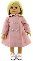 Pink Coat with Silver Buttons Doll Clothes for 18 inch American Girl $11.94