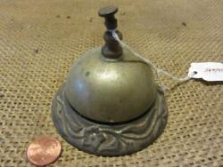Vintage Cast Iron And Brass Desk Bell Antique Old Iron Hotel Bells 9390