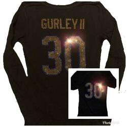 Womens Los Angeles Rams Todd Gurley Bling Sparkle Jersey Shirt Super Bowl