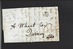 Rushville, Illinois 1849 Stampless Printed 5 Rate,schuyler Co.1827/op.