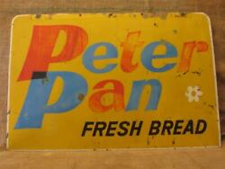 Vintage Peter Pan Roman Meal Bread Sign Rare Two Sided Antique Bakery 9996