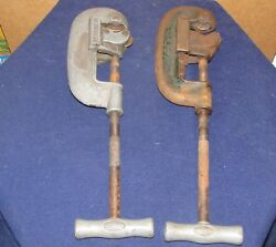 Vintage 2 Heavy Duty Pipe Cutters Ridgid No 2 1/8 - 2 No 1 And 2 Elyria Oh