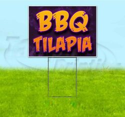 Bbq Tilapia 18x24 Yard Sign With Stake Corrugated Bandit Usa Business Barbecue