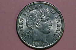 1900-p Mint State Barber Or Liberty Head 90 Silver Dime Bdx0999