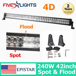 42inch 240w Led Light Bar Combo Offroad Truck Boat Tractor Driving 4d Opticals
