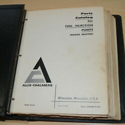 Allis Chalmers Fuel Injection Pump Roosa Master Parts Manual Book Catalog Spare