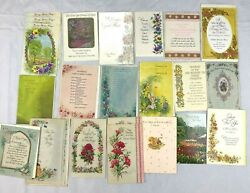 Lot 24 Vintage Greeting Cards Buzza Cardozo Friendship Parchment Get Well Soon