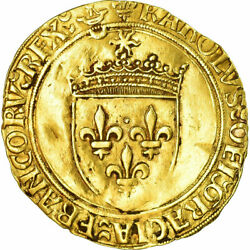 [485570] Coin France Charles Viii Ecu Dand039or Bordeaux Ef40-45 Gold