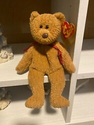 Curly Beanie Baby With Multiple Tag Errors - Rare