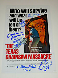 The Texas Chainsaw Massacre Cast Signed Autographed X7 12x18 Photo Poster Rare