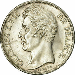 [485736] Coin France Charles X 2 Francs 1827 Bordeaux Ms60-62 Silver