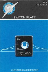 Up Toggle Switch Plate For Peterbilt Lift Axle Up/down Stainless Etched 48446
