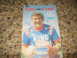 The King And His Court Official Souvenir Signed By Eddie Feigner, Al Jackson.
