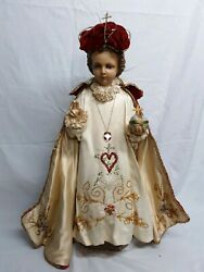Antique Statue Infant Of Prague Circa 1920#x27;s