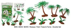 Bmc 48554 Double Set Of Marx Reissue Palm Trees And Ferns 8 Trees And 8 Ferns