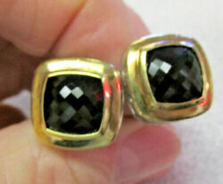 David Yurman Faceted Black Onyx Earrings 18k Gold And Sterling Silver Make Offer