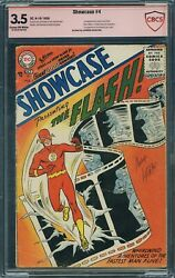 SHOWCASE 4 CBCS 3.5 not CGC 1ST Barry Allen & Iris West (Carmine Infantino Sig)