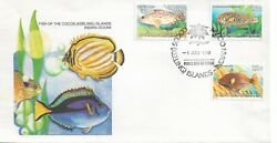 Cocos Fish FDC Set of 3 issued FDI 1 July 1980