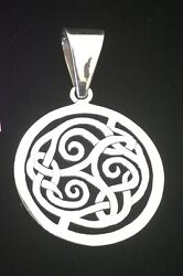 Silpada Sterling Silver 925 Round Celtic Knot Pendant S1230 • 25 Gr •retired